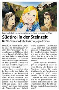 """Ausschnitt aus der Zeitung """"Dolomiten"""" vom 08.09.2011"""